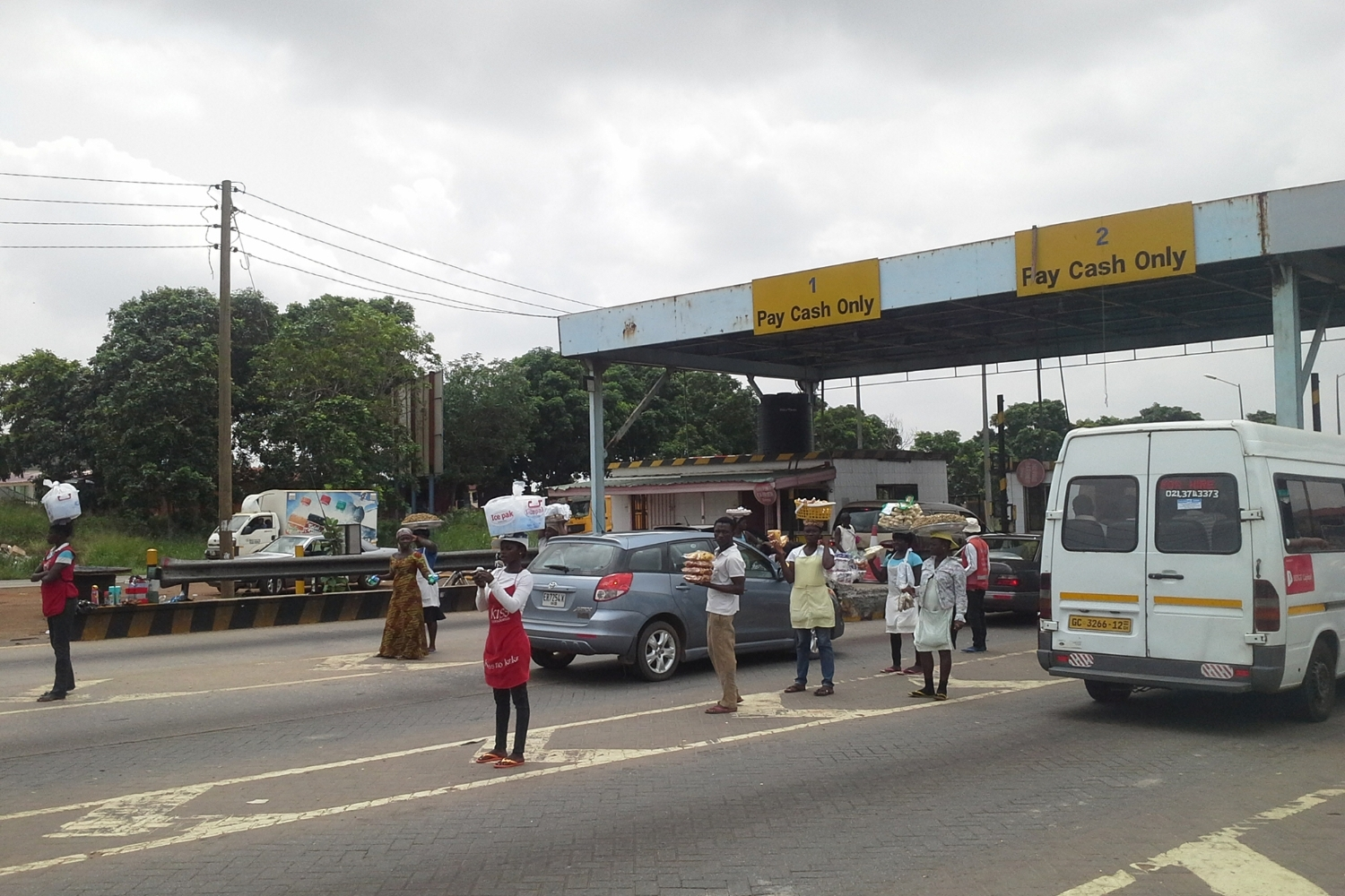 A tollbooth on the Accra-Tema highway.