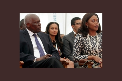 José Eduardo dos Santos, his wife Ana Paula dos Santos, and in the background his daughter Isabel dos Santos with her husband Sindika Dokolo in August 2012.