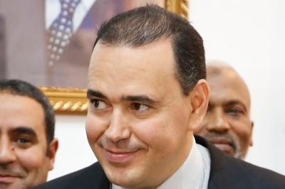 The king's private secretary and Al Mada boss Mounir el-Majidi.