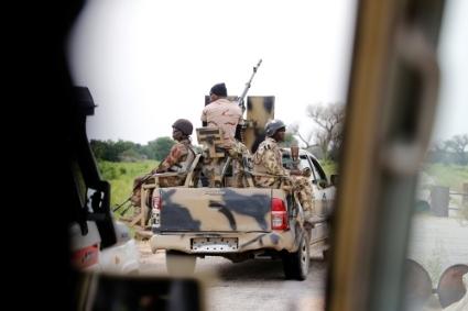 A Nigerian army convoy in August 2016.