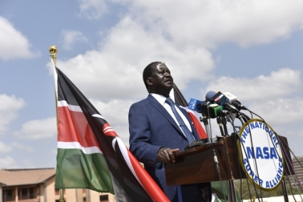 Former prime minister, Raila Odinga, leads the opposition coalition.