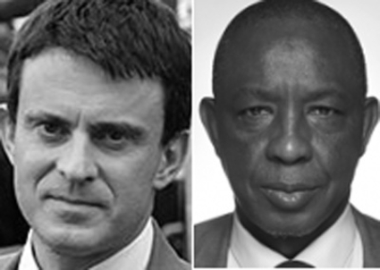 Manuel Valls and Ibrahima Diawadow