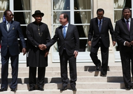 François Hollande and West Africa leaders