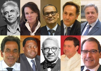 Ten lawyers who hear the confessions of African presidents