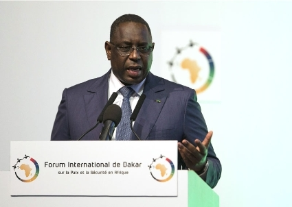 Macky Sall, Senegal's president, during the Forum of Dakar, on december 6, organised by CEIS.