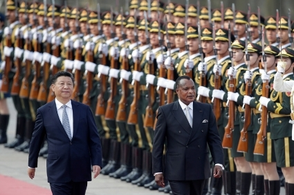 China's President Xi Jinping and Congo Republic President Denis Sassou Nguesso.
