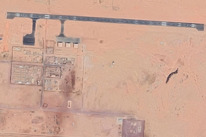 The USAF air base in Agadez, a key building site for Gecoba, the group of Khalidou Moussa Ba.