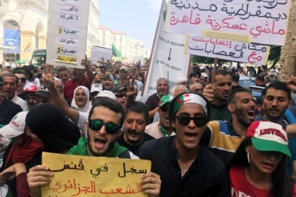 A protest in Algiers, September 10.