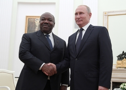 Vladimir Putin has been lobbying for Russian businesses during Ali Bongo's visit in Moscow in July.