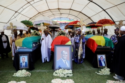 Funeral of ANRS President, Ambachew Mekonnen, in Bahar Dar, on June 26.