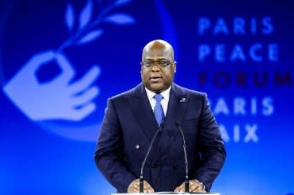 DRC President Félix Tshisekedi at Paris Peace Forum, November 12, 2019.