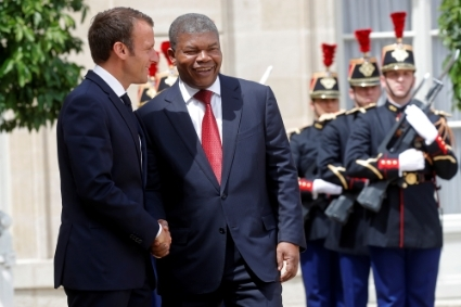 Emmanuel Macron is set to visit Joao Lourenco in Angola early next year.