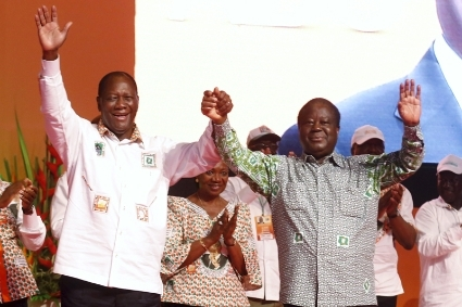 The pact between Henri Konan Bedie (right) and Alassane Ouattara is now broken.