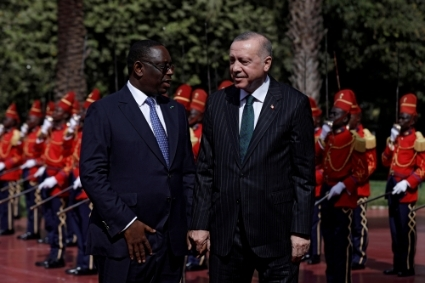 Macky Sall and Recep Tayyip Erdogan in Dakar, January 28 2020.