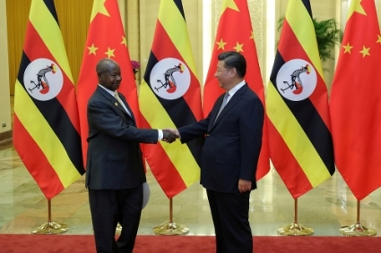 Ugandan President Yoweri Museveni and his Chinese counterpart Xi Jinping in Beijing.