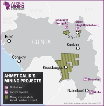 Ahmet Calik's mining projects.