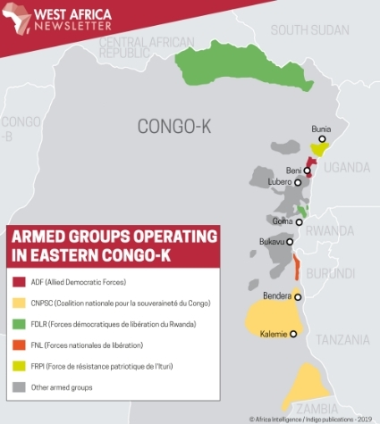 Armed groups operating in eastern Congo-K.