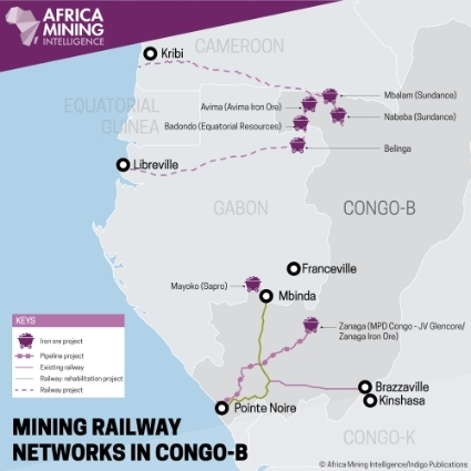 Mining railway networks in Congo-B.