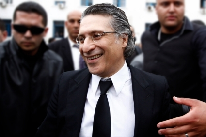 Nabil Karoui, candidate for the presidential election of November in Tunisia.