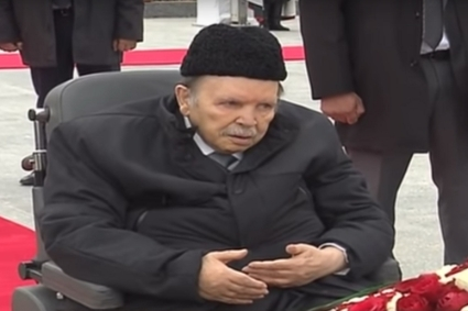 "Abdelaziz Bouteflika in the El Alia Cemetery's ""martyrs' square"" on November 1."