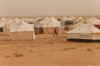 The Garart Al Qatef refugee camp.