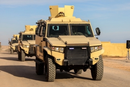 The LNA's 106th Brigade was able to take delivery of four Terrier LT-79 armoured troop carriers.