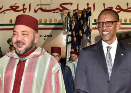 Mohammed VI and Paul Kagame.