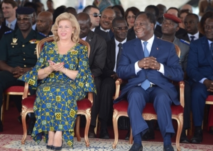 Alassane and Dominique Ouattara
