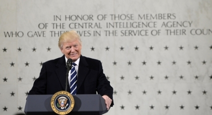 US President Donald Trump Speaks At The CIA Headquarters on Jan. 21, 2017 / Gettyimages - Bloomberg