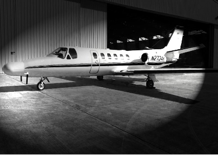 A Cessna 550 Citation II adapted for ISR missions.