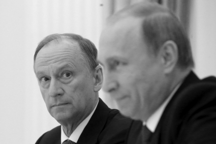 Russian Security Council Secretary Patrushev and President Putin.