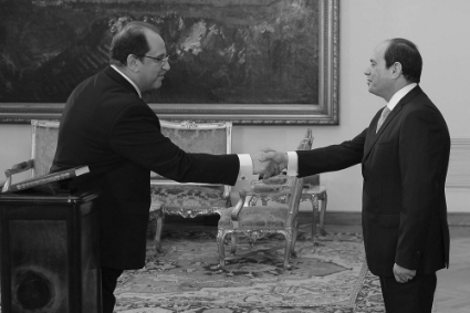 gyptian President Abdel Fattah al-Sisi and Major General Abbas Kamel.