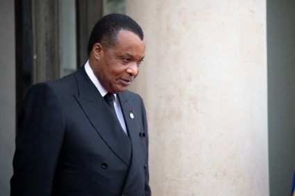 Congolese President Denis Sassou Nguesso, who chairs the Grande Loge du Congo.