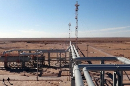 The gas installations of In Salah, Algeria.