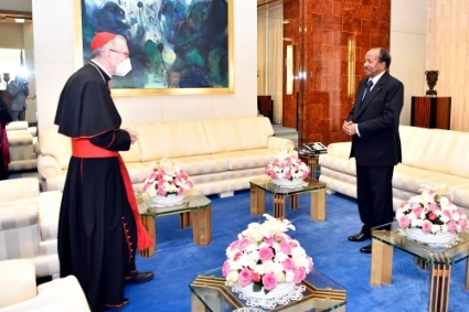 Vatican Secretary of State Pietro Parolin met with Cameroonian President Paul Biya in Yaoundé at the end of January.
