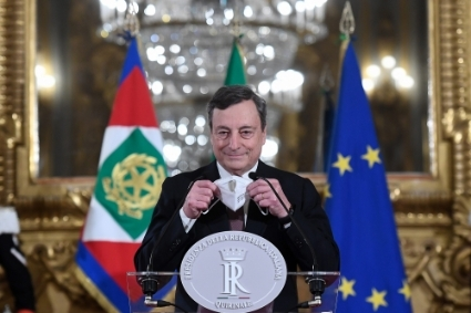 The new president of the Italian council, Mario Draghi.