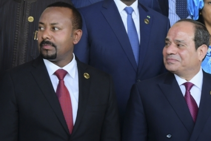 Prime Minister of Ethiopia Abiy Ahmed with President of Egypt Abdel Fattah al-Sisi.