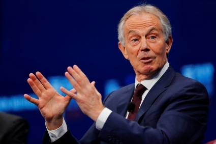 British former prime minister Tony Blair.