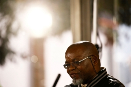 South African Minister of Mineral Resources Gwede Mantashe.