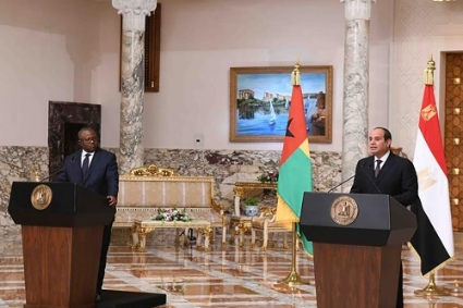 Guinean president Umaro Sissoco Embaló was received on 4 March 2021 by his Egyptian counterpart Abdel Fattah al-Sisi.