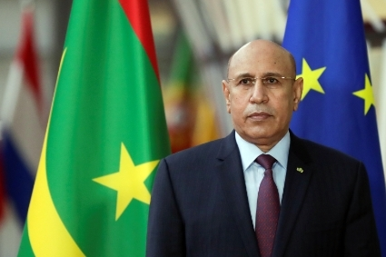 The president of Mauritania Mohamed Ould Ghazouani.