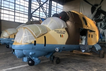 Two Mi-24 helicopter gunships belonging to the Chadian army have been overhauled in the Tbilaviamsheni factory in Tbilisi.