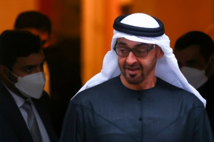 UAE Crown Prince Mohamed bin Zayed Al Nahyan.