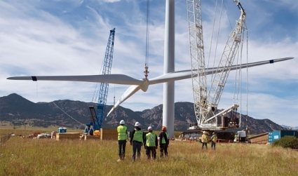 The wind farm under construction in Namaacha.
