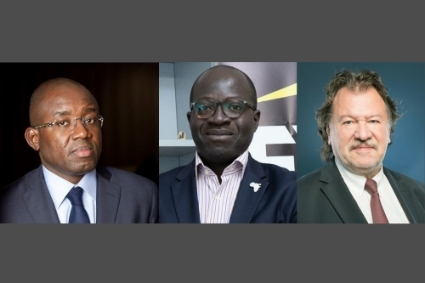 From left to right : Marc Vincens Wabi (Deloitte), Eric N'guessan (EY Africa) and Jean-Luc Ruelle (KPMG)