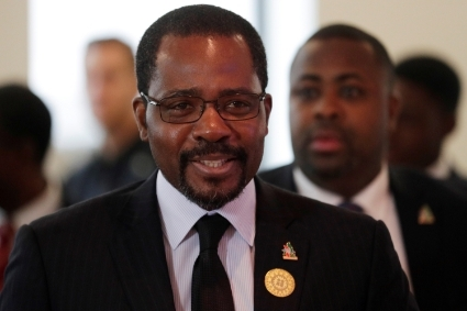 Equatorial Guinea's minister of mines and hydrocarbons Gabriel Obiang Nguema.