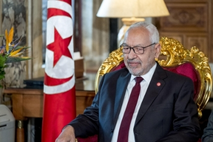 Rached Ghannouchi, head of the Ennahda party and speaker of the Assembly of People's Representatives (ARP).