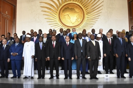 The last African Union summit in February 2020.