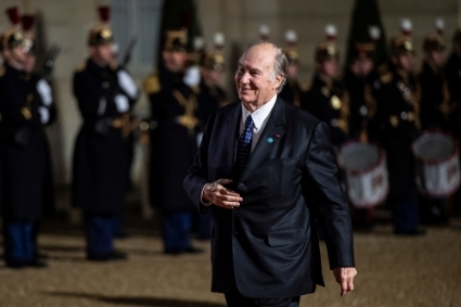 Prince Karim Al-Hussaini, 4th Aga Khan, spiritual leader of the Ismaili Muslim community.