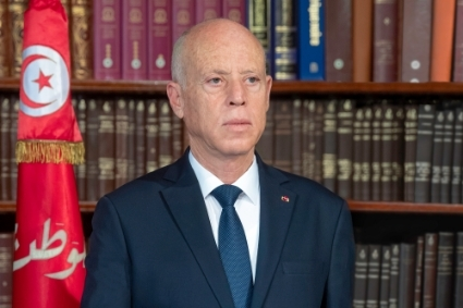 Tunisian head of state Kais Saied.